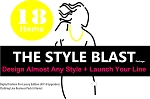 1e - The Style Blast Pack - Our 2nd Largest Package! 18 Items! Includes Digital Fashion Pro V9 Luxury Edition (14 Items (Basic V9 + 13 Upgrades)) + How to Start Your Own Clothing Line Business Pack. (4 Items)